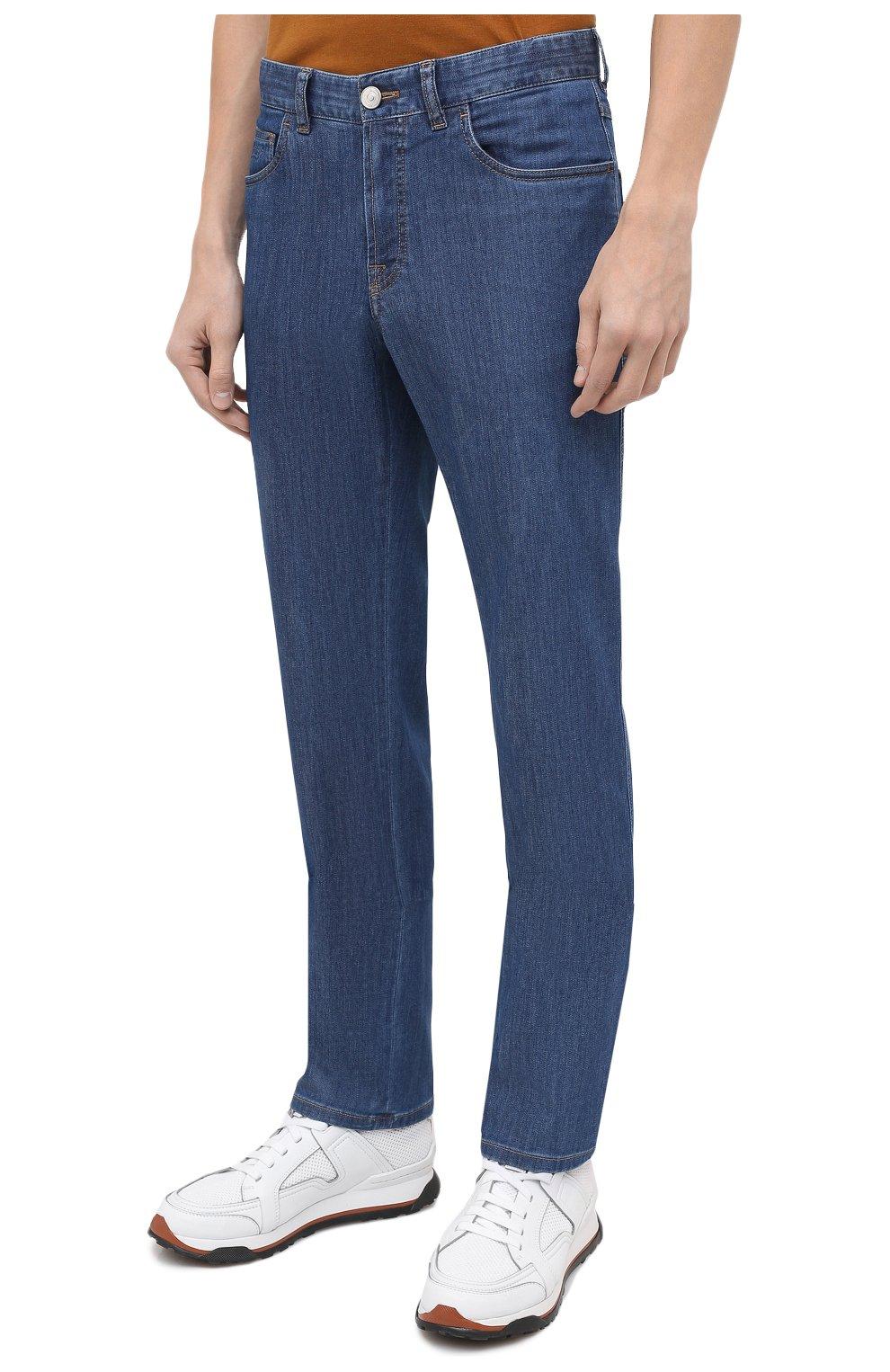 Мужские джинсы BRIONI голубого цвета, арт. SPNJ0L/P9D22/STELVI0 | Фото 4