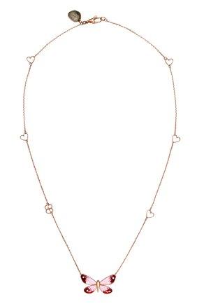 Женские колье GUCCI розового золота цвета, арт. YBB389136001 | Фото 1