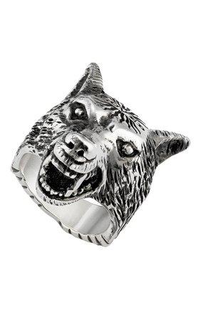 Мужское кольцо GUCCI бесцветного цвета, арт. YBC476900001 | Фото 1