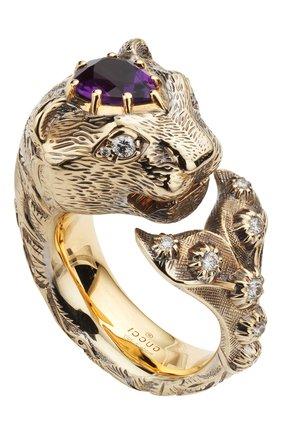 Женские кольцо GUCCI бесцветного цвета, арт. YBC482030003   Фото 1