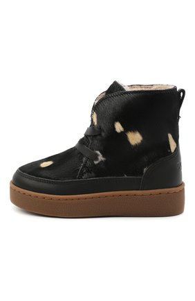 Детские кожаные ботинки DONSJE AMSTERDAM черного цвета, арт. 1011-CB005-00000 | Фото 2