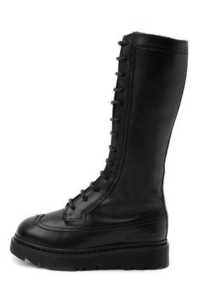 Детские кожаные сапоги EMPORIO ARMANI черного цвета, арт. XX0002/X0R04/28-34 | Фото 2