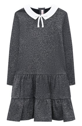 Детское платье IL GUFO темно-синего цвета, арт. A20VL401M0087/5A-8A | Фото 1