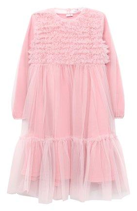 Детское платье IL GUFO розового цвета, арт. A20VL430H0018/5A-8A | Фото 1