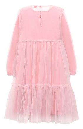 Детское платье IL GUFO розового цвета, арт. A20VL430H0018/5A-8A | Фото 2