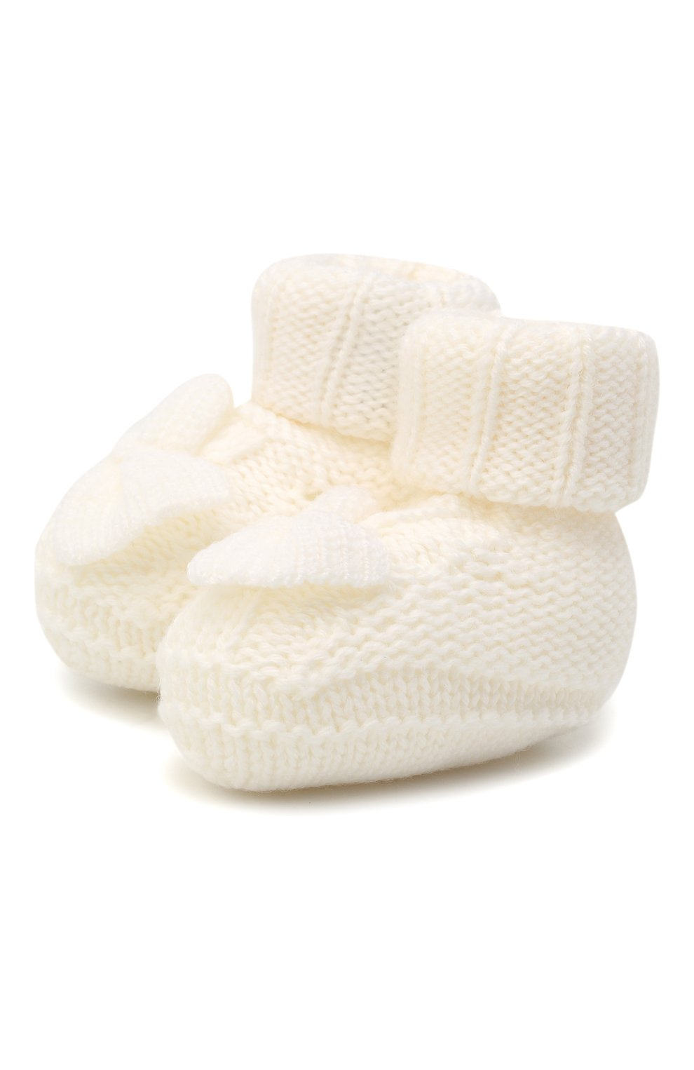 Детские шерстяные пинетки BABY T белого цвета, арт. 20AI103SA | Фото 1
