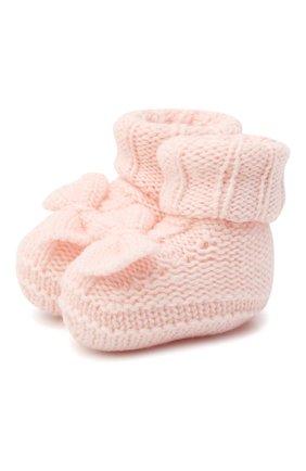 Детские шерстяные пинетки BABY T светло-розового цвета, арт. 20AI103SA | Фото 1