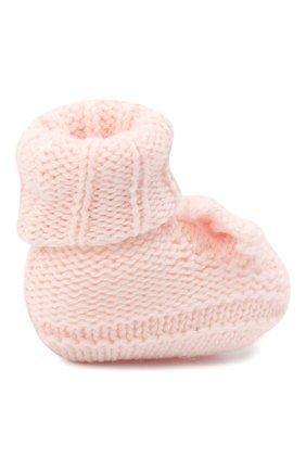Детские шерстяные пинетки BABY T светло-розового цвета, арт. 20AI103SA   Фото 3