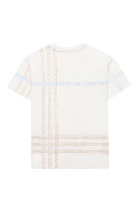 Детская хлопковая футболка FENDI белого цвета, арт. JMI337/7AJ/8A-12+   Фото 2