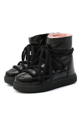 Детские кожаные ботинки INUIKII черного цвета, арт. 60202-61/34-38 | Фото 1