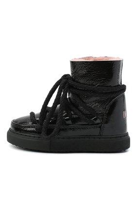 Детские кожаные ботинки INUIKII черного цвета, арт. 60202-61/34-38 | Фото 2