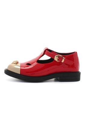 Детские кожаные туфли VERSACE красного цвета, арт. YGF00053/YB00173 | Фото 2