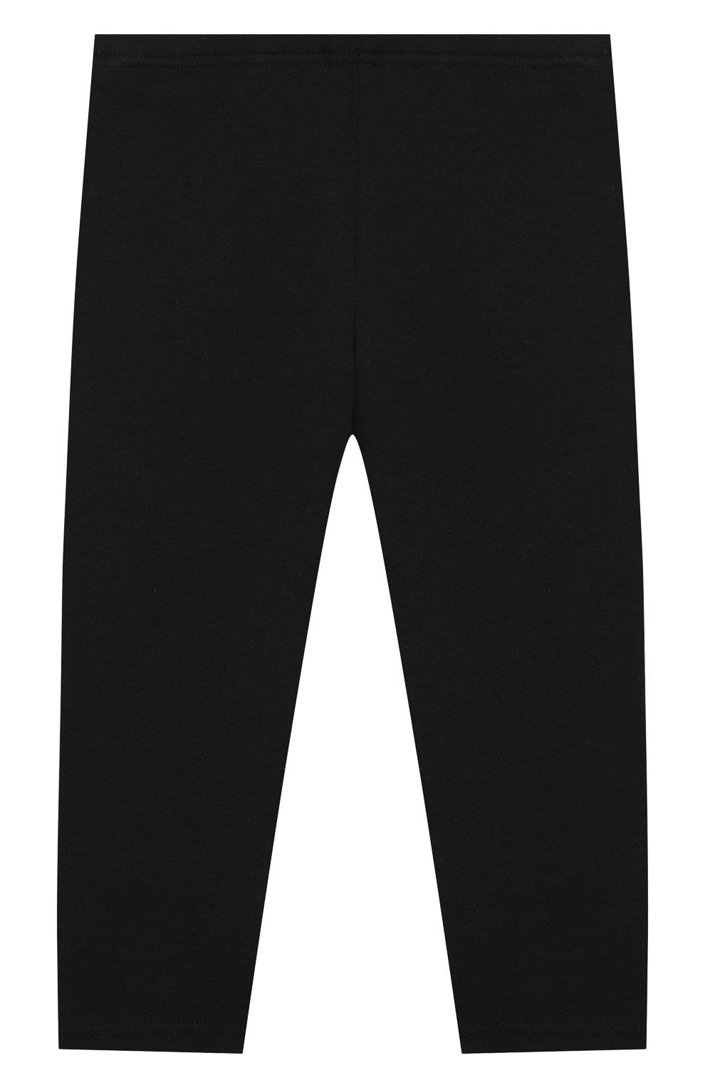 Детские хлопковые брюки VERSACE черного цвета, арт. YA000169/A234592 | Фото 2