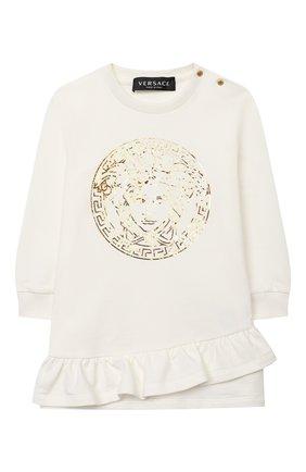 Женский хлопковое платье VERSACE белого цвета, арт. YA000173/YA00077 | Фото 1
