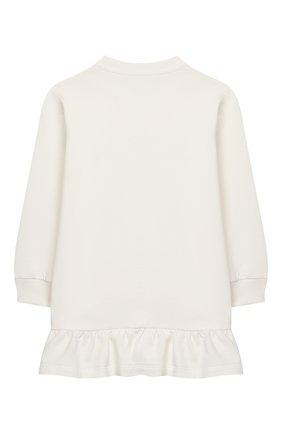 Женский хлопковое платье VERSACE белого цвета, арт. YA000173/YA00077 | Фото 2