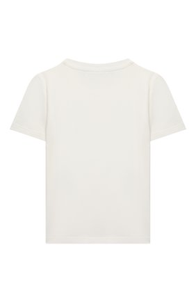 Детский хлопковая футболка VERSACE белого цвета, арт. YB000178/YA00019 | Фото 2