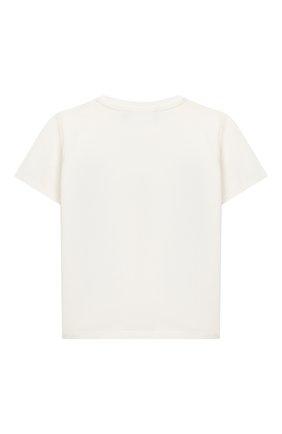 Детский хлопковая футболка VERSACE белого цвета, арт. YB000183/YA00019 | Фото 2