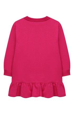 Детское хлопковое платье VERSACE фуксия цвета, арт. YC000341/YA00078/4A-6A | Фото 2