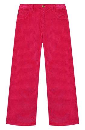 Детские хлопковые брюки VERSACE фуксия цвета, арт. YC000371/A235032/4A-6A | Фото 1