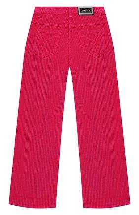 Детские хлопковые брюки VERSACE фуксия цвета, арт. YC000371/A235032/4A-6A | Фото 2