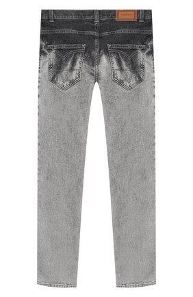 Детские джинсы VERSACE серого цвета, арт. YD000245/A236335/8A-14A | Фото 2