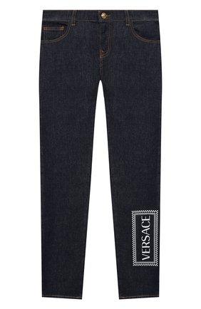 Детские джинсы VERSACE синего цвета, арт. YD000245/A236381/8A-14A | Фото 1