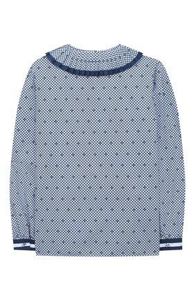 Детское хлопковая блузка GUCCI синего цвета, арт. 623549/ZAE67   Фото 2