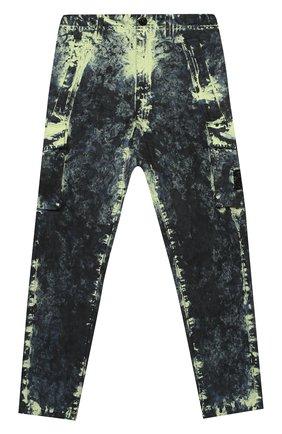 Детские хлопковые брюки STONE ISLAND разноцветного цвета, арт. 731630638/6-8 | Фото 1