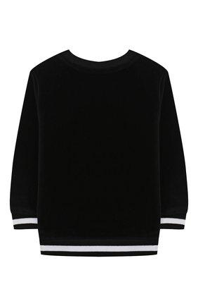 Детский хлопковый свитшот BALMAIN черного цвета, арт. 6N4830/NB430/12-36M | Фото 2