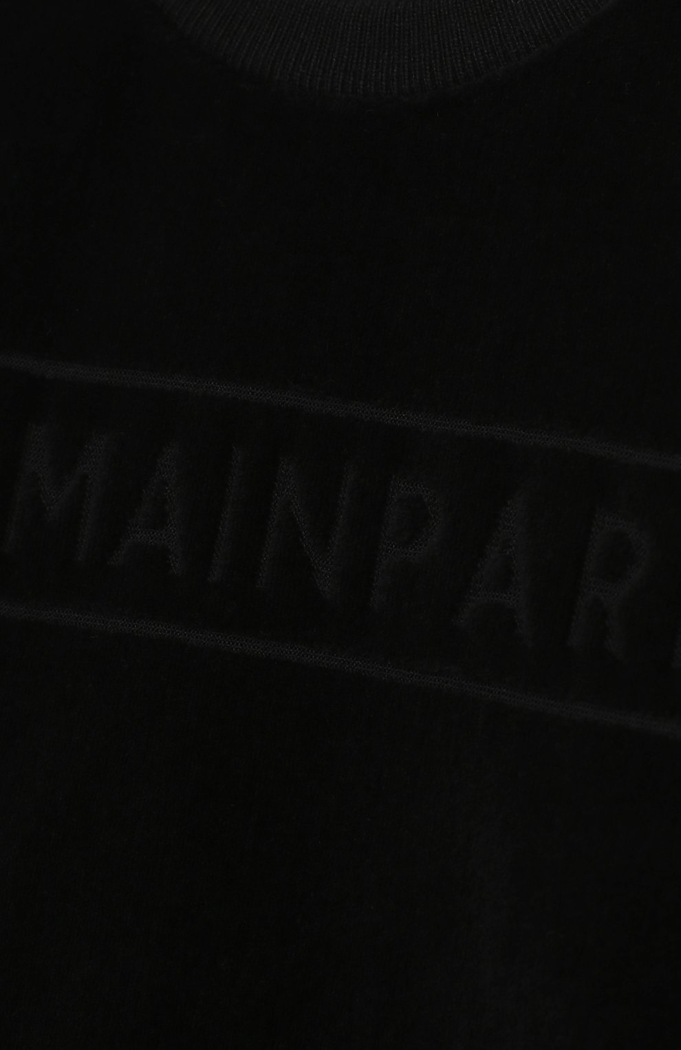Детский хлопковый свитшот BALMAIN черного цвета, арт. 6N4830/NB430/12-36M   Фото 3