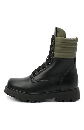 Детские кожаные ботинки FENDI черного цвета, арт. JMR337/AD7G/27-31 | Фото 2