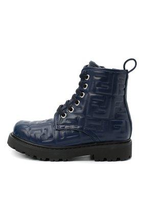 Детские кожаные ботинки FENDI темно-синего цвета, арт. JMR338/AADS/27-31 | Фото 2