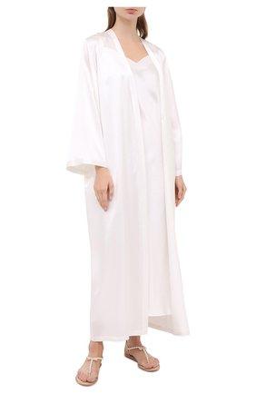 Женская шелковая сорочка MARJOLAINE белого цвета, арт. ODANA | Фото 2