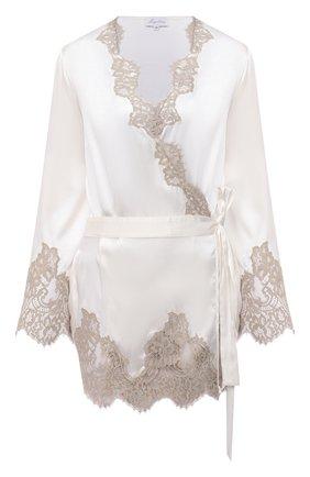 Женский халат MARJOLAINE белого цвета, арт. 4JAG2001 | Фото 1