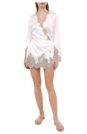 Женский халат MARJOLAINE белого цвета, арт. 4JAG2001 | Фото 2