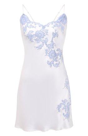 Женская шелковая сорочка MARJOLAINE белого цвета, арт. 3GEM0112 | Фото 1