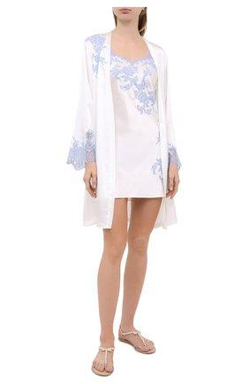 Женская шелковая сорочка MARJOLAINE белого цвета, арт. 3GEM0112 | Фото 2