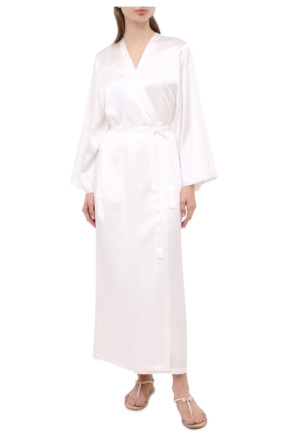 Женский халат MARJOLAINE белого цвета, арт. Laurian   Фото 2