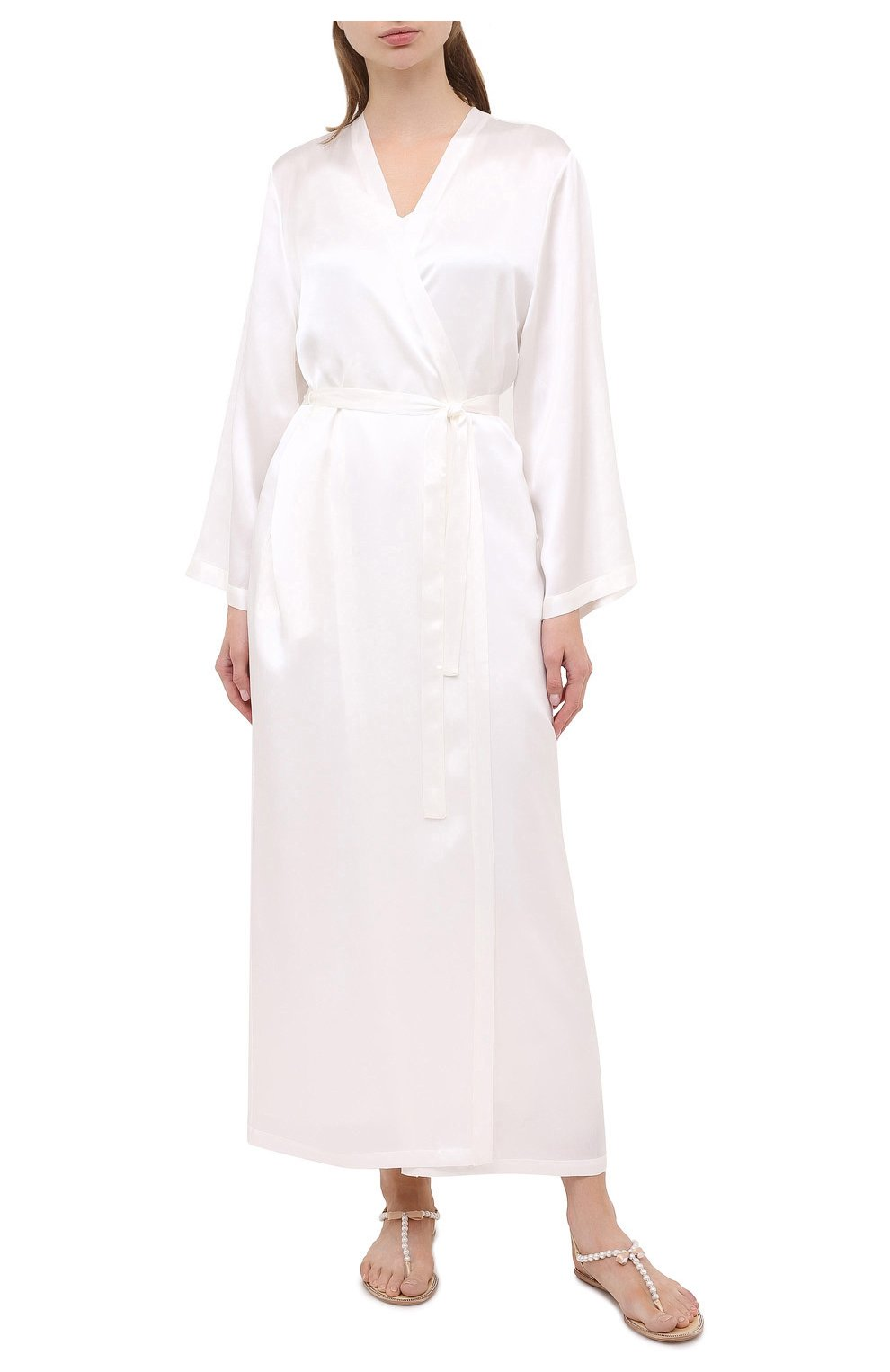 Женский халат MARJOLAINE белого цвета, арт. Laurian   Фото 3