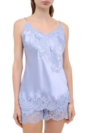 Женская шелковая пижама MARJOLAINE голубого цвета, арт. 3GEM4012-3GEM5003 | Фото 2