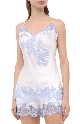 Женская шелковая пижама MARJOLAINE белого цвета, арт. 3GEM4012-3GEM5003 | Фото 1