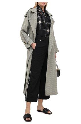 Женские брюки GIORGIO ARMANI черного цвета, арт. 0WHPP0DH/T01V0 | Фото 2