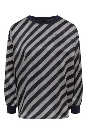 Женская шелковая блузка GIORGIO ARMANI черного цвета, арт. 0WHCCZ04/TZ628 | Фото 1