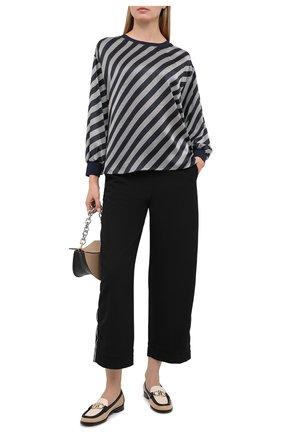 Женская шелковая блузка GIORGIO ARMANI черного цвета, арт. 0WHCCZ04/TZ628 | Фото 2