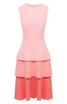 Женское шерстяное платье OSCAR DE LA RENTA светло-розового цвета, арт. 20PN214STW | Фото 1