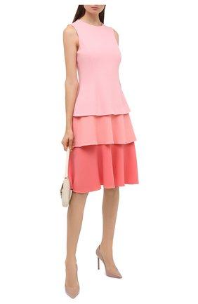 Женское шерстяное платье OSCAR DE LA RENTA светло-розового цвета, арт. 20PN214STW | Фото 2