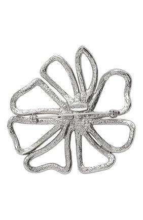 брошь OSCAR DE LA RENTA серебряного цвета, арт. P20J309CRT   Фото 2
