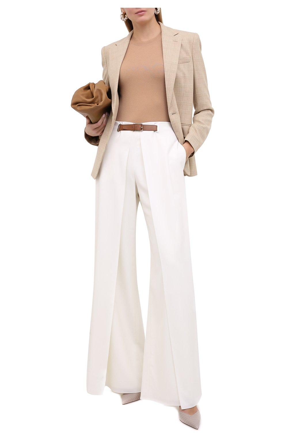 Женские шерстяные брюки RALPH LAUREN белого цвета, арт. 290815842 | Фото 2