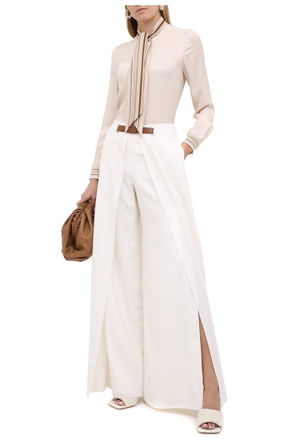 Женские шерстяные брюки RALPH LAUREN белого цвета, арт. 290815842 | Фото 3