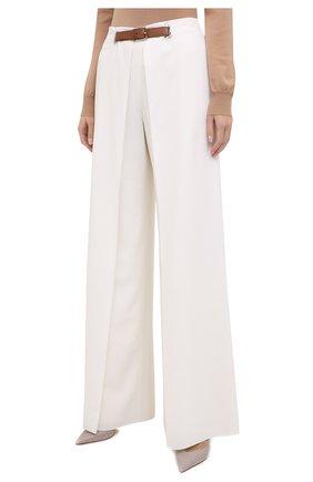 Женские шерстяные брюки RALPH LAUREN белого цвета, арт. 290815842 | Фото 4